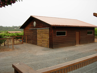 Custom exterior staining and finishing - Healdsburg